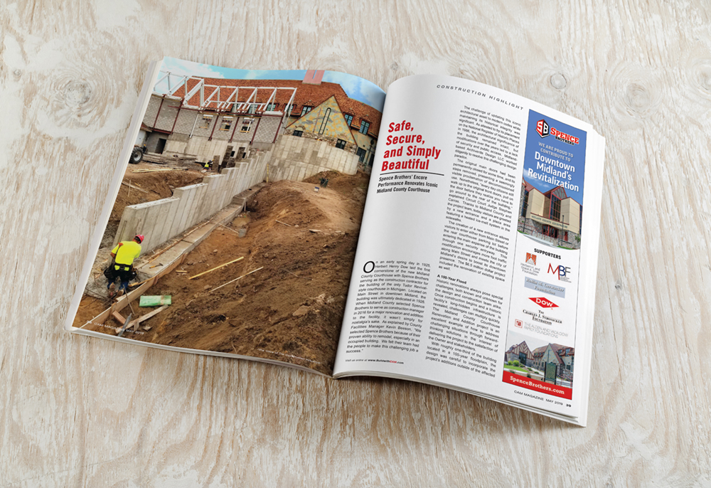 Midland County Courthouse featured in CAM Magazine - Spence