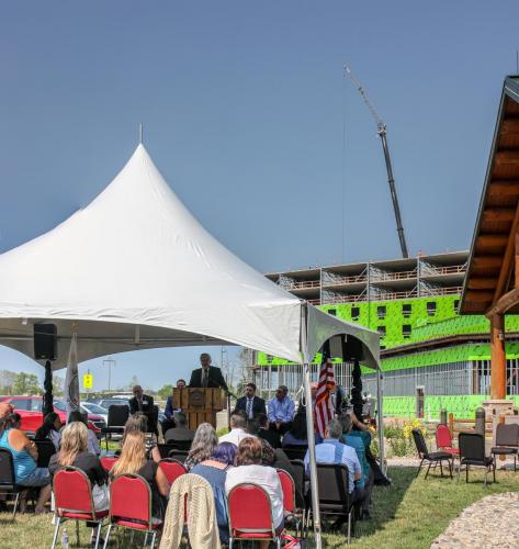 Saganing Eagles Landing Casino, Topping Out Ceremony