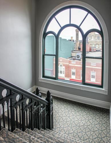 The Legacy (Crapo Building) historic stairway restoration