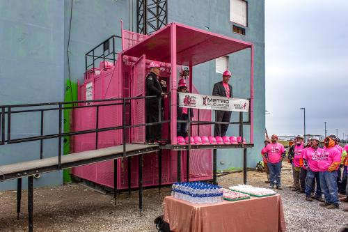 Pink Elevator Ribbon Cutting Ceremony
