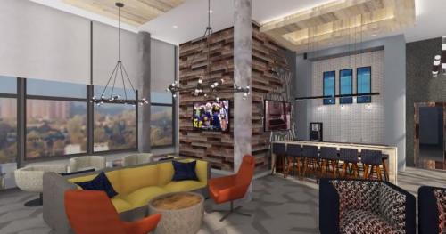 Six11, Ann Arbor - Rendering Common Area