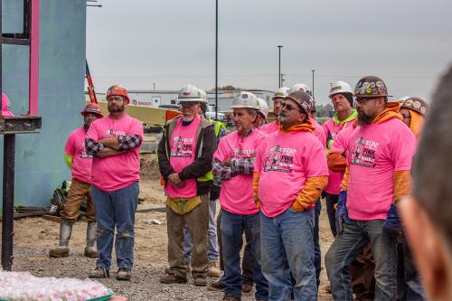 Construction Workers on site at Saganing Eagles Landing Casino
